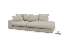 Left Hand Wodge Modular Chaise Longue in Thatch house fabric