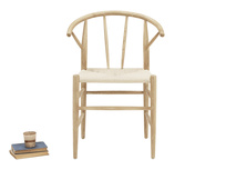 Pitstop oak and wicker kitchen chair