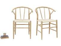 Pitstop oak and wicker kitchen chairs