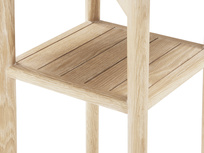Marbler top side table - shelf detail