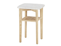 Marbler top side table