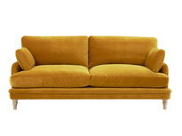 Squisharoo comfy sofa in Burnished yellow clever velvet
