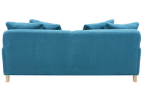 Bear Hug comfy sofa in Harbour blue vintage linen