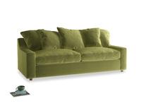 Large Cloud Sofa in Light Olive Plush Velvet