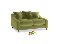 Small Oscar Sofa in Light Olive Plush Velvet