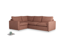 Large left hand Chatnap modular corner storage sofa in Dried Rose Clever Laundered Linen with both arms