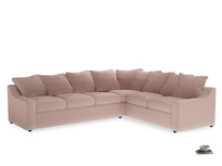 Xl Right Hand Cloud Corner Sofa in Dried Plaster Clever Velvet