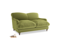 Small Pudding Sofa in Light Olive Plush Velvet