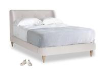 Double Puffball Bed in Winter White Clever Velvet