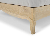 Margot rattan bed in weathered oak handmade in a French vintage style