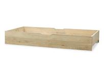 dinkum in oak wooden under bed storage with wheels