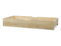 dinkum in oak wooden under bed storage with wheels L