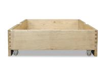 Dinkum in oak handmade under the bed storage and drawer