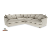 XL Right Hand Smooch Corner Sofa Bed in Thatch house fabric
