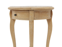 Bella French style side table in Marble drawer detail