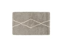 Casbah woven fluffy bedside rug in Ash Grey