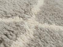 Casbah handmade fluffy rug in Ash Grey