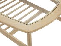 Wood Turner coffee table with shelf