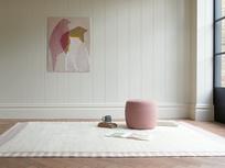 Loom fluffy modern rug in Dusty Pink