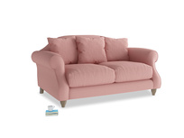 Small Sloucher Sofa in Dusty Pink Vintage Linen