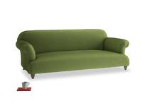 Large Soufflé Sofa in Olive Vintage Velvet