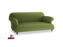 Medium Soufflé Sofa in Olive Vintage Velvet