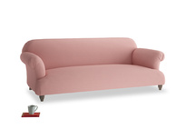 Large Soufflé Sofa in Dusty Pink Vintage Linen