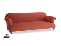 Extra large Soufflé Sofa in Burnt Sienna Brushed Cotton