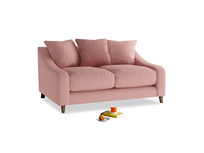 Small Oscar Sofa in Dusty Pink Vintage Linen