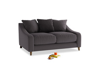 Small Oscar Sofa in Faded Noir Vintage Linen