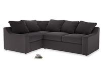 Large Left Hand Cloud Corner Sofa in Faded Noir Vintage Linen