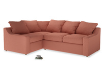 Large Left Hand Cloud Corner Sofa in Tawny Pink Brushed Cotton