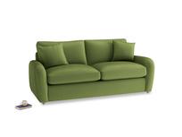 Medium Easy Squeeze Sofa Bed in Olive Vintage Velvet