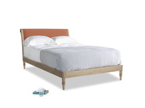Double Darcy Bed in Burnt Umber Vintage Linen