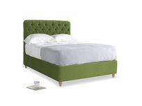 Double Billow Bed in Olive Vintage Velvet