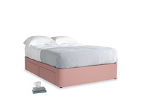 Double Tight Space Storage Bed in Dusty Pink Vintage Linen