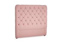 Double Tall Billow Headboard in Dusty Pink Vintage Linen