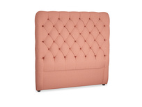 Double Tall Billow Headboard in Tawny Pink Brushed Cotton