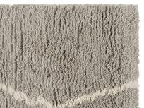 Casbah modern bedside rug in Ash Grey