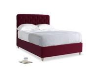 Double Billow Bed in Merlot Clever Deep Velvet