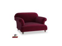 Soufflé Love seat in Merlot Clever Deep Velvet