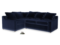 Large Left Hand Cloud Corner Sofa in Midnight Clever Deep Velvet