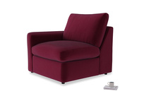 Chatnap Storage Single Seat in Merlot Clever Deep Velvet with a left arm