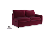 Chatnap Storage Sofa in Merlot Clever Deep Velvet with a right arm