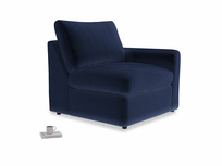 Chatnap Storage Single Seat in Midnight Clever Deep Velvet with a right arm