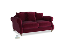 Small Sloucher Sofa in Merlot Clever Deep Velvet