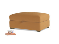 Bumper Storage Footstool in Caramel Clever Deep Velvet