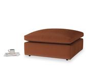 Cuddlemuffin Footstool in Praline Clever Deep Velvet