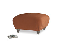 Small Square Homebody Footstool in Praline Clever Deep Velvet