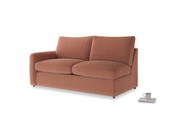 Chatnap Storage Sofa in Pinky Peanut Clever Deep Velvet with a left arm